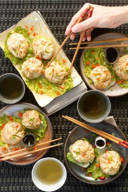 Steamed Vegetable Pork Dumplings Recipe