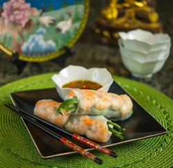 Summer Shrimp Pork Herb Rolls Recipe