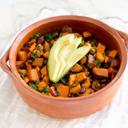 Sweet Potato Kale Black Bean Hash Recipe