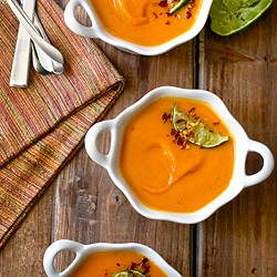 Sweet Potato Soup With Ginger Vanilla
