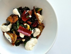 Swiss Chard with Crispy Pita and Almonds Recipe
