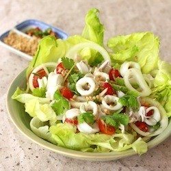 Thai Squid Salad with Spicy Lime Dressing