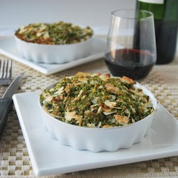 Vegetable Gratin with Blue Cheese and Herbs