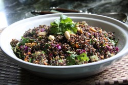 Asian Quinoa Salad with Cilantro Coconut Dressing Recipe