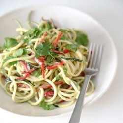 Asian style courgette noodle salad