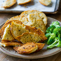 Baked Garlic and Herbs Bagel Chips