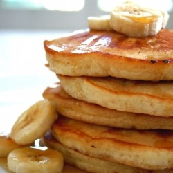 Banana Sour Cream Pancakes