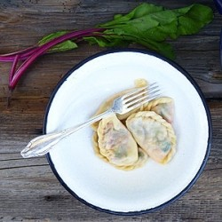 Beet Leaf and Mozzarella Dumpling Recipe