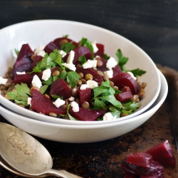 Beetroot Lentil Salad Recipe