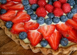 Berry Tart with Vanilla Pastry Cream Recipe