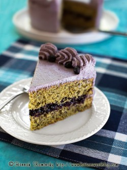 Blue Corn Blueberry Layer Cake Recipe