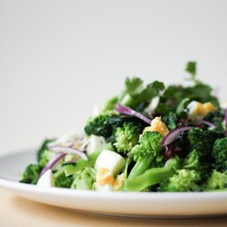 Broccoli Spinach Egg Salad Recipe