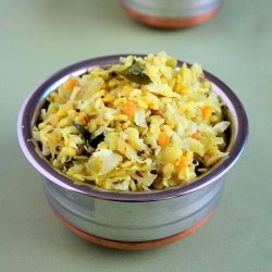 Cabbage Moong Dal Stir Fry Recipe