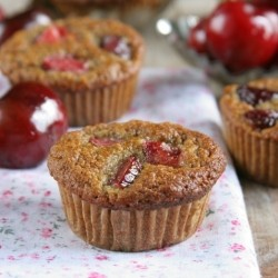 Cherry Chia Mini Muffins Recipe