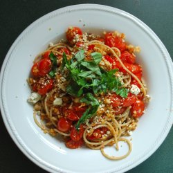 Cherry Tomato and Pine Nut Spaghetti