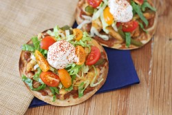 Chicken Fajita Tostadas Recipe