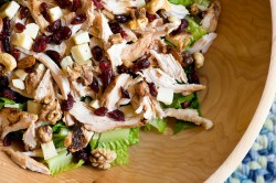Chicken Salad with Cranberries Cheddar and Walnuts
