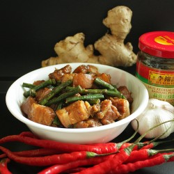 Chinese Pork Belly and Snake Beans Recipe