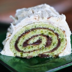 Chocolate and Pistachio Yule Log