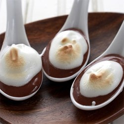 Chocolate Pudding and Meringue Spoons from Cook Eat…