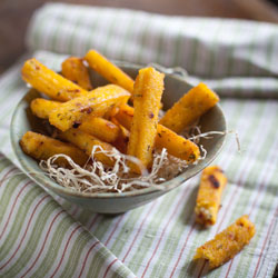 Crispy Polenta Fingers With Herbs and Sun-dried Tomatoes Recipe