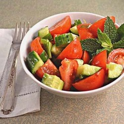Cucumber Tomato Salad with Mint