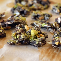 Dark Chocolate with Almonds and Pistachios Recipe