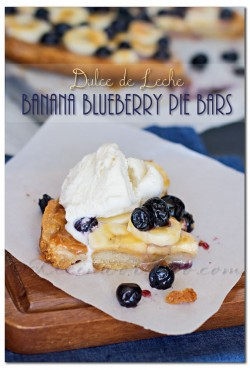 Dulce de Leche Banana Blueberry Pie Bars Recipe