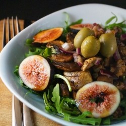 Fig Walnut Mushroom Salad Recipe