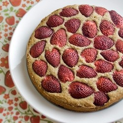 Fresh Rustic Strawberry Cake