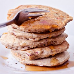 Gluten Free Vegan Strawberry Apple Pancakes Recipe