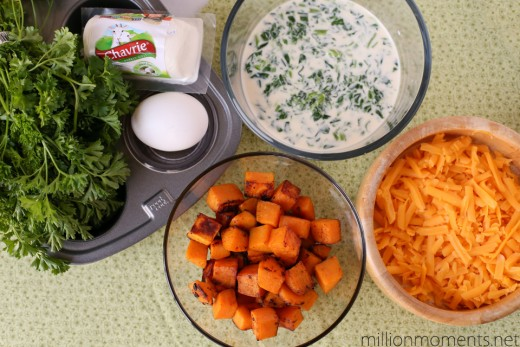 Goat Cheese and Sweet Potato Mini Quiche Recipe