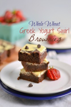 Greek Yogurt Cheesecake Swirl Brownies Recipe