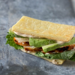Grilled Chicken Avocado Napoleon with Puff Pastry Recipe