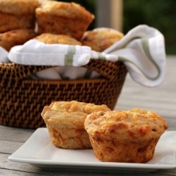 Ham and Cheese Rye Muffins Recipe