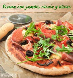 Ham Arugula and Olive Pizza Recipe