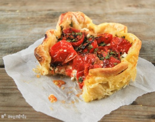 Ham Ricotta Cheese Tomato Tart Recipe