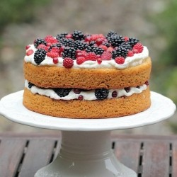 Hazelnut Torte with Berries Recipe
