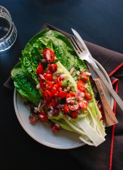 Hearts of Romaine with Pico de Gallo Recipe