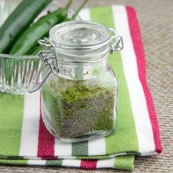 Homemade Green Chilli Powder Recipe
