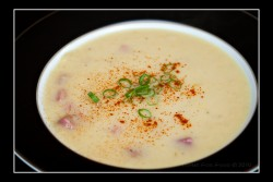 Leek and Potato Soup with Ham