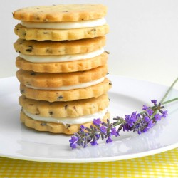 Lemon Filled Lavender Shortbread Cookies Recipe