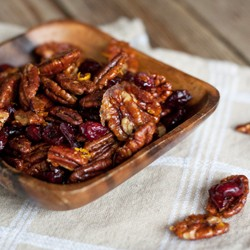 Maple Glazed Pecans and Cranberries Recipe
