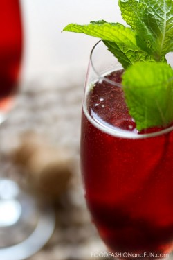 Morello Cherry Mint Spritzer Recipe
