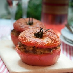 Mushroom Stuffed Tomatoes Recipe