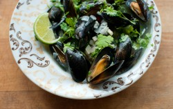 Mussels in White Wine Lime and Cilantro Recipe