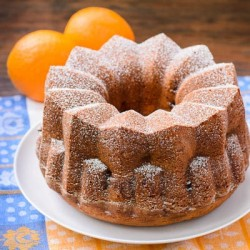 Orange Blueberry Yogurt Bundt Cake