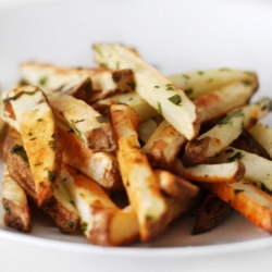 Oven Baked French Fries with Lemon and Parsley