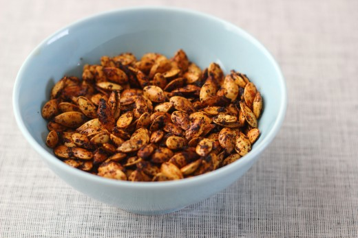 Paprika and Chipotle Spiced Pumpkin Seeds