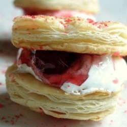 Passion Flakie Jam and Puff Pastry Sandwiches